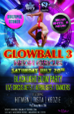 Glowball 3 Neon Circus Black Light Glow Party